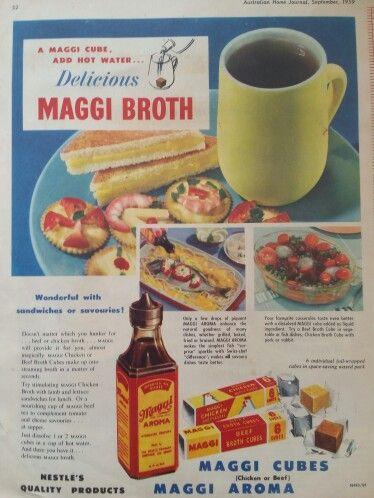 Vintage Nestle Maggi Broth Stock Ad September 1959