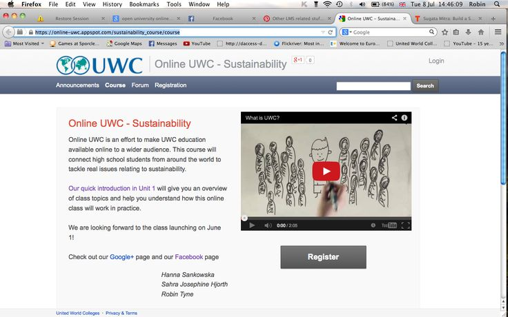Online UWC: a short course in sustainability