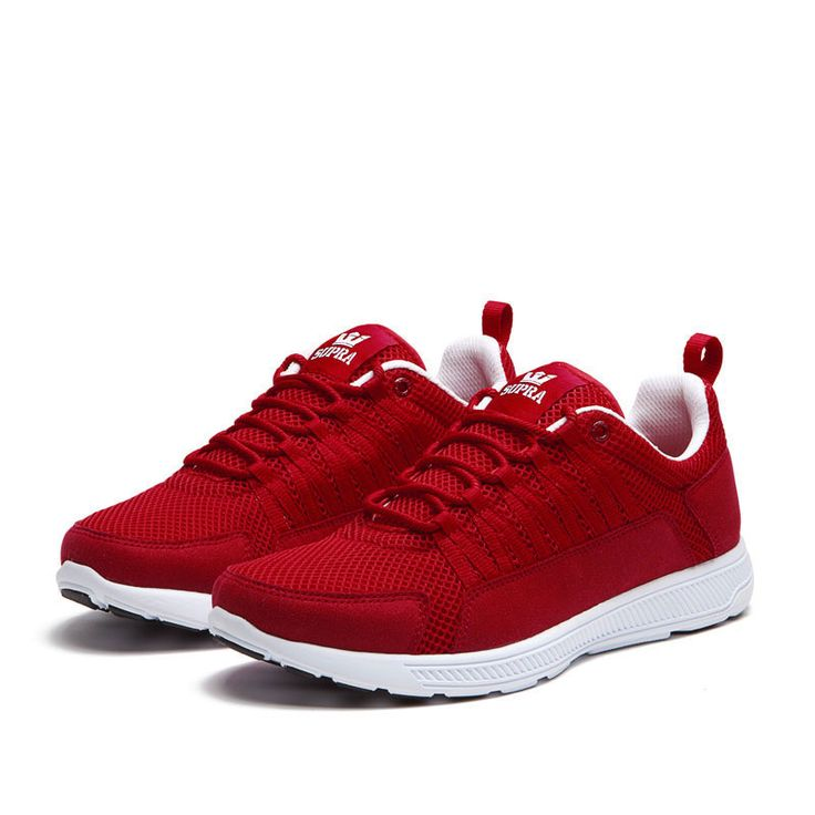 Supra Owen Shoes Red White Running Shoes | activewear picks ...