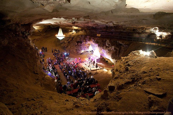 Bluegrass Underground is a concert and radio show recorded live 333 feet below ground at Cumberland Caverns in McMinnville, TN. It takes place inside of what's known as The Volcano Room, a natural amphitheater.