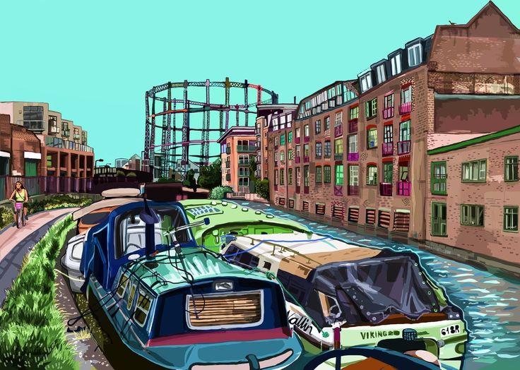 East End Prints - Regent's Canal London Fields, £50.00 (http://www.eastendprints.co.uk/products/regents-canal-london-fields.html)