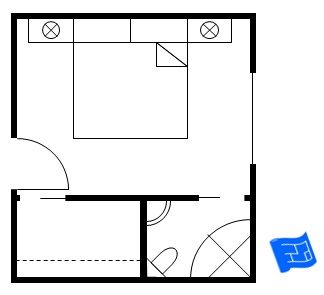 heres a master bedroom floor plan with a corner bathroom and a walk in closet - Planning An Ensuite