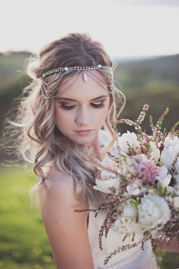 2016 Chic Boho Bridal Hairstyle Wedding Ideas And Invitations -InvitesWeddings.com
