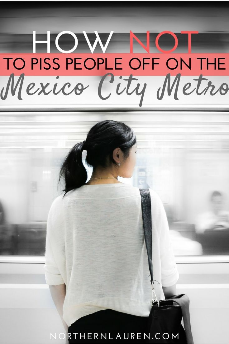 An easy guide to not pissing people off on the metro in Mexico City. Mexico's public transport is bad enough without your annoying habits and bad manners!