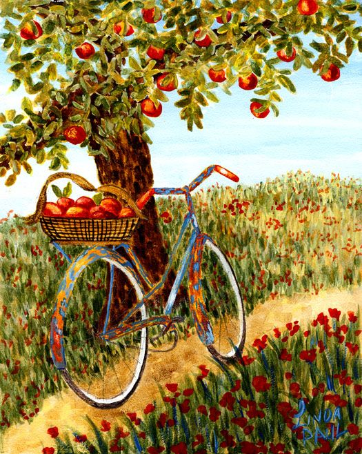Under The Apple Tree ~ Limited Edition Giclee Print on Canvas by Linda Paul