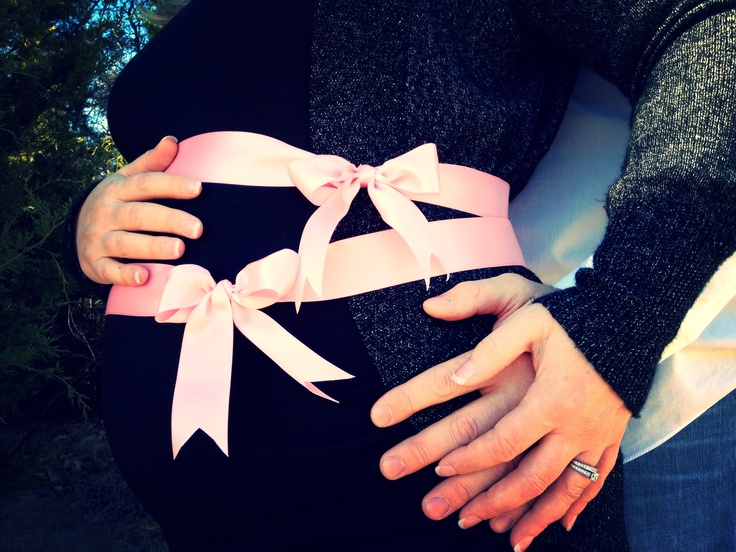 Our twin girls gender reveal photo!! 12-21-12