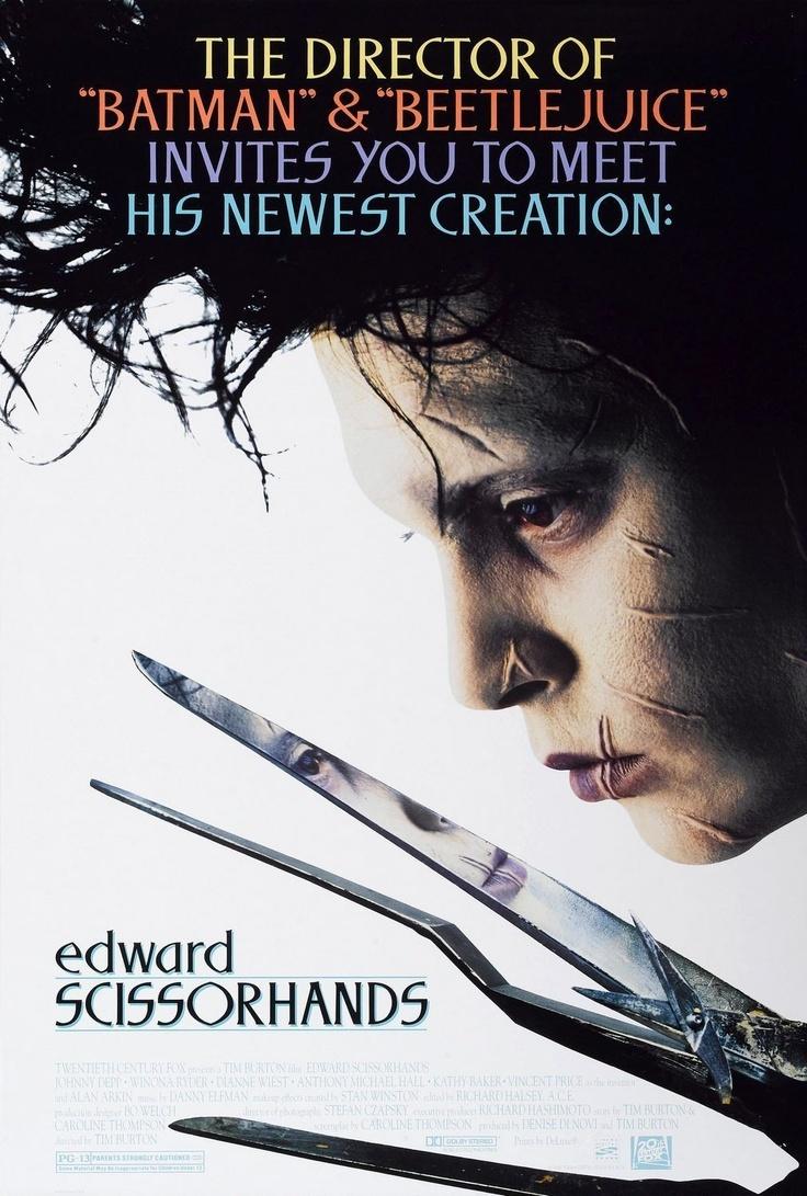 Tim Burtons movie, Johnny Depp as Edward. (1990)