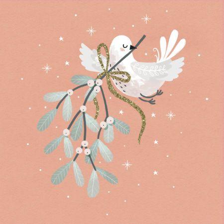 Christmas Turtledove and Mistletoe