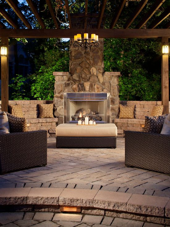 Patio idea with fireplace