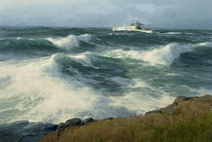 "Donald Demers     ""Searching""  16x24 - oil"