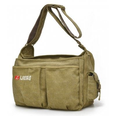 Just US$25.42, buy Men Vintage Large Capacity Canvas Shoulder Bag online shopping at GearBest.com Mobile.