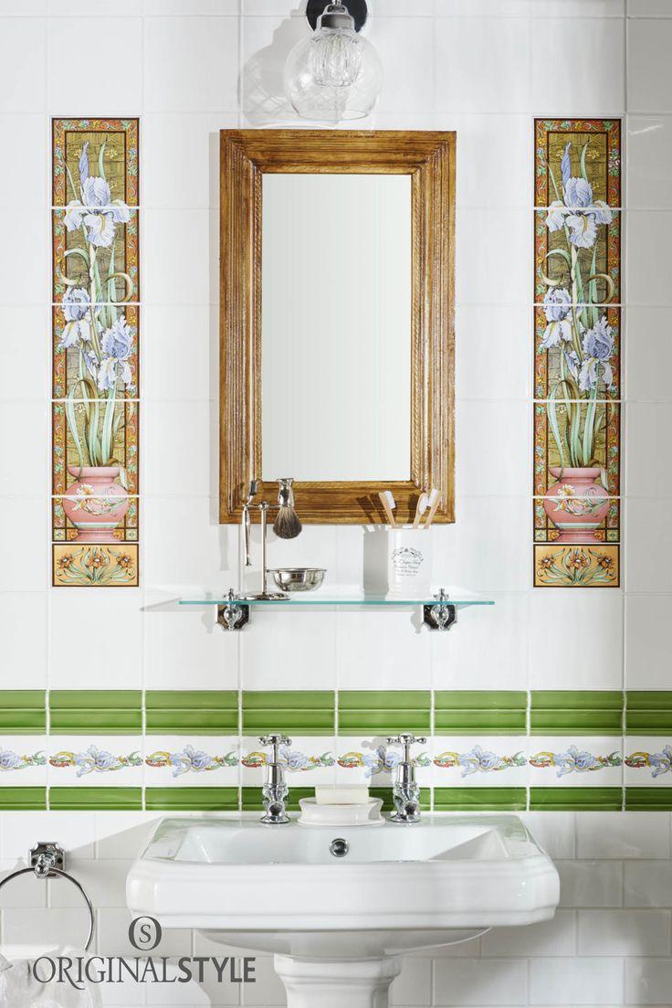 The tile shop design by kirsty georgian bathroom style - Blue Iris 5 Set Tile