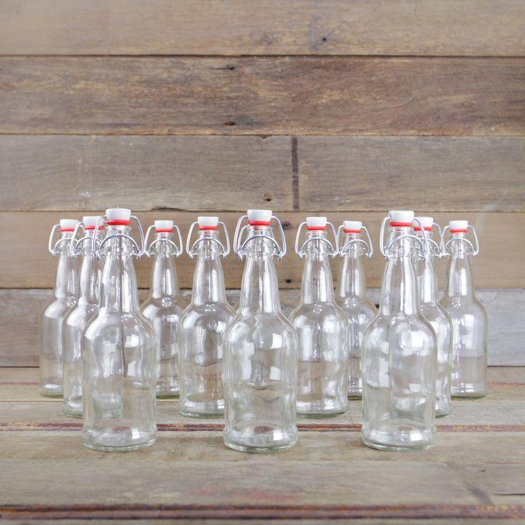 EZ Cap 16oz Bottles, Clear, Case/12 from Mountain Feed