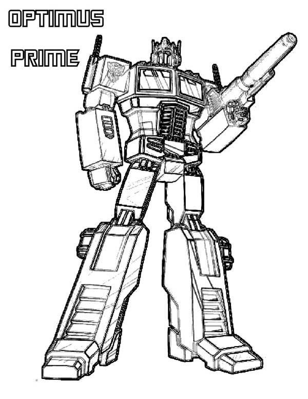 Optimus Prime Coloring Pages Transformers Coloring Pages