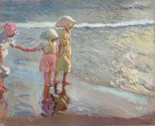 christiesauctions: Joaquín Sorolla y Bastida (Spanish, 1863-1923)Las tres hermanas en la playa19th Century European & Orientalist Art