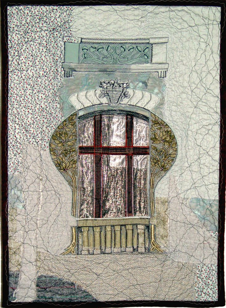 "Bozena Wojtaszek ""Ornamented Window"", art quilt"
