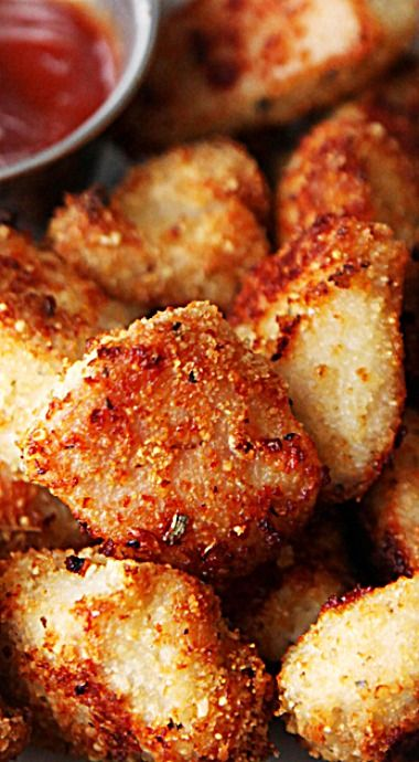 Seasoned Baked Chicken Bites ❊