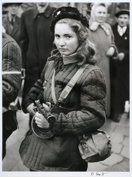 15 Year Old Erika Kornelia Szeles a Hungarian Resistance member who fought against the Soviets during the 1956 revolution. During a resistance operation, Erika was mortally wounded in a street fight with Soviet soldiers on November 8th 1956 and died on the spot.