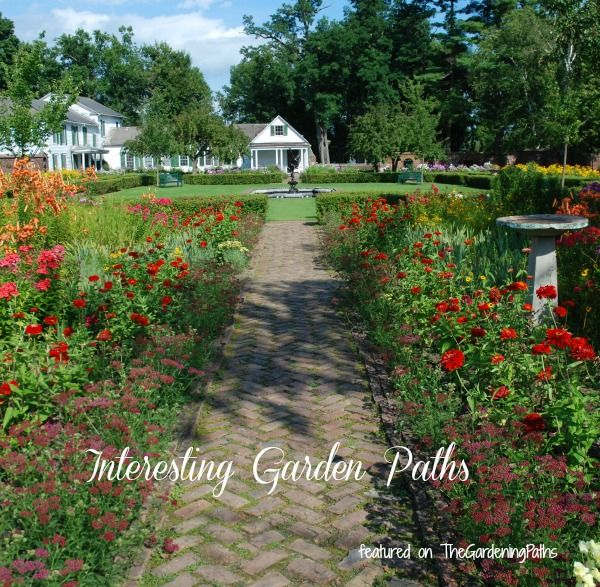 I have a fondness for natural looking garden paths. No hardscaping for me in structured shapes. The more rustic the better! Here are some of my favorites