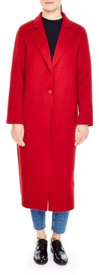 Sandro Women's Long Wool Coat