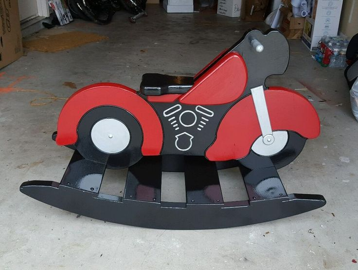 Refurbished unique motorcycle rocking horse in toys for Scooter rocking horse