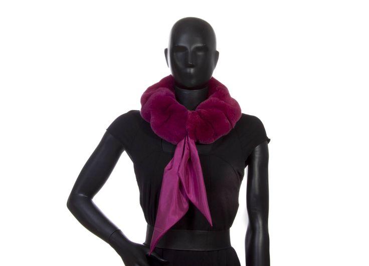 Scaldacollo goffrato rex ciclamino  foulard seta