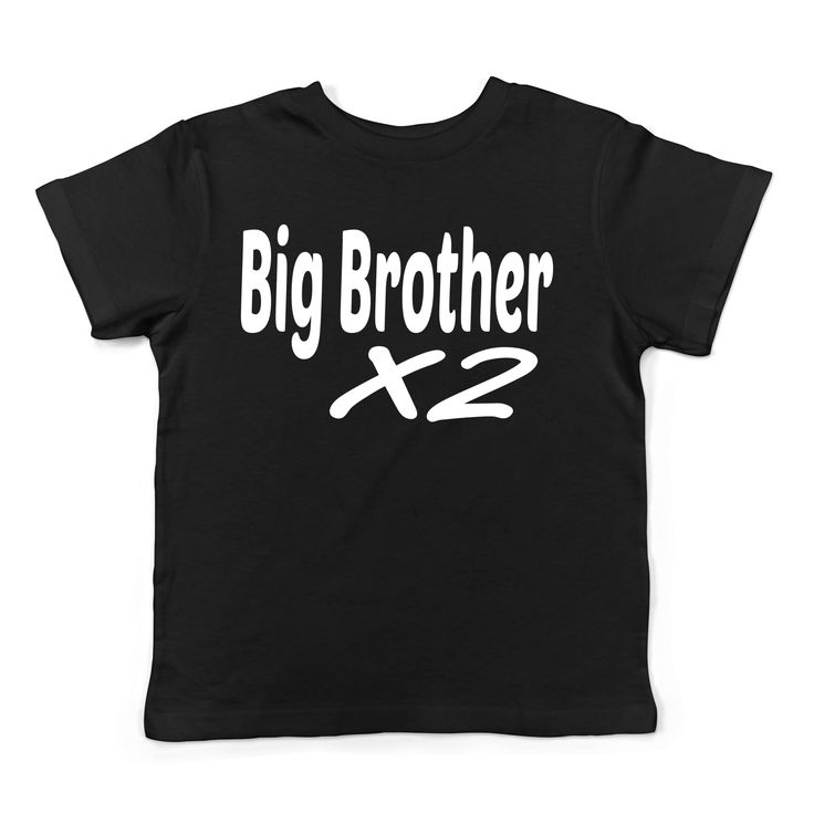 Lil Shirts Big Brother X 2 Little Boys Youth and Toddler Shirt