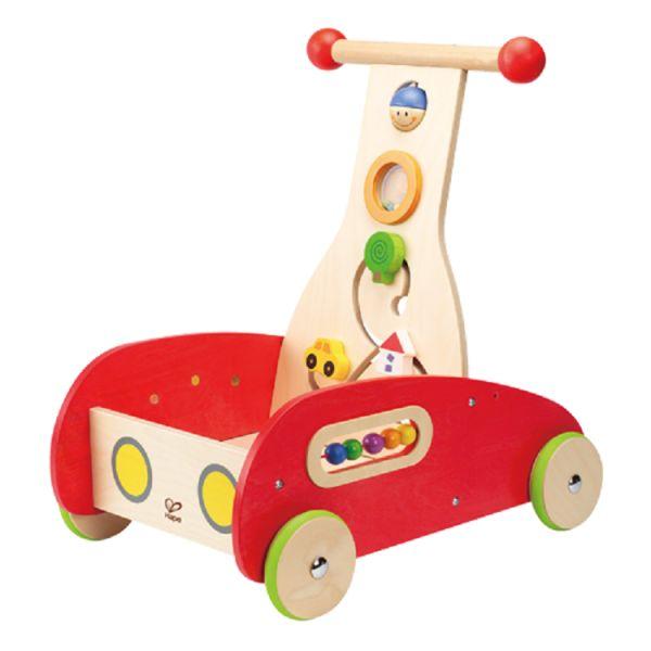 Deze Hape Wonder Walker (E0370) is een houten loop en activity walker met diverse speelmogelijkheden zoals ronddraaien, schuiven en kijken. De activity walker helpt het kind leren staan, balans houden en stimuleert het eerste lopen. Afmetingen 33,3 x 46 x 50,5 cm. Leeftijd 12 mnd.+.