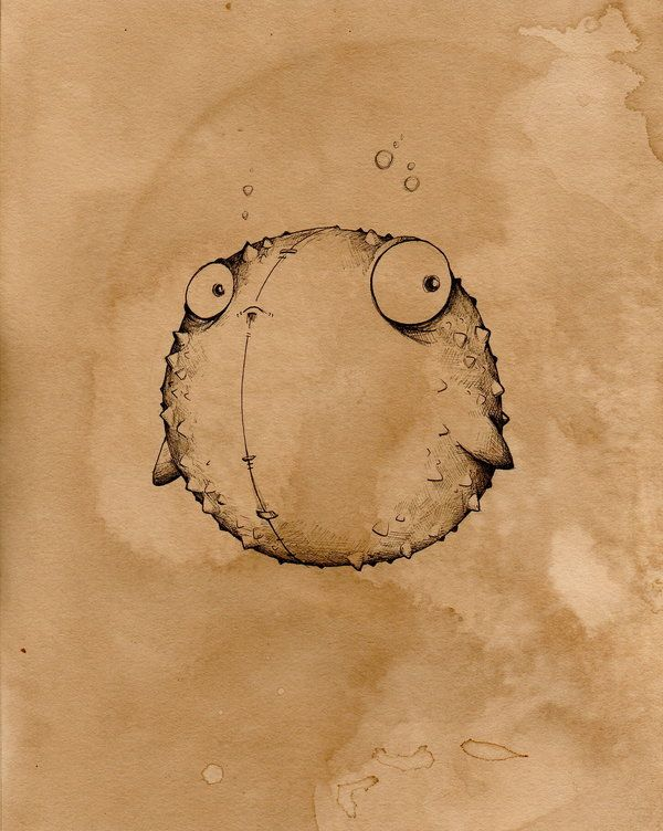 Corky the blowfish  by ~UMINGA
