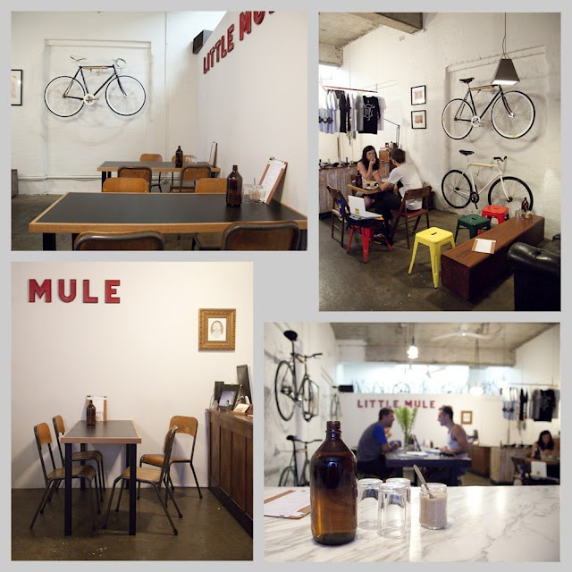 It's so loveable the Little Mule, cafe, Melbourne CBD. Simple style and best coffee