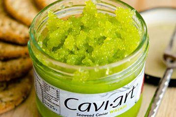 Wasabi Cavi-art kelp caviar. www.Yourfitgrocer.com