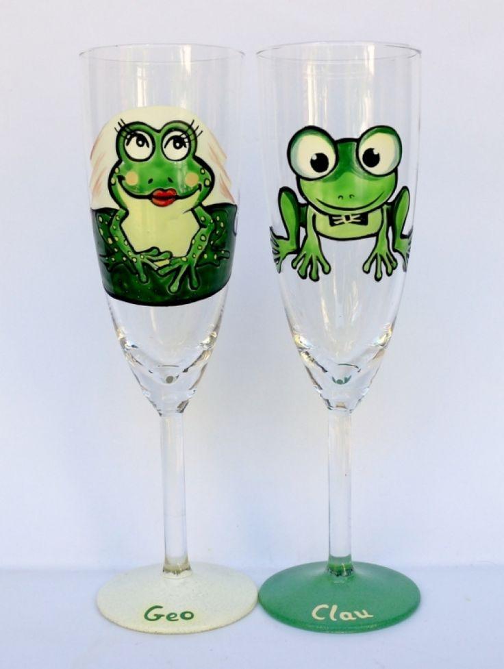 "Set+pahare+nunta+""Cute+Frogs"""