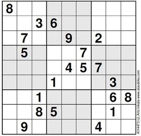1. The World's Hardest Sudoku