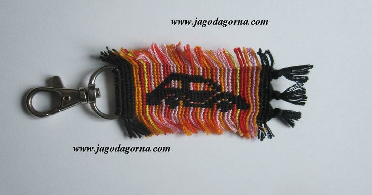 Brelok do kluczyków od samochodu, pomarańczowy, czerwony, różowy, żółty, czarny, z frędzelkami www.facebook.com/BransoletkizMuliny www.jagodagorna.com