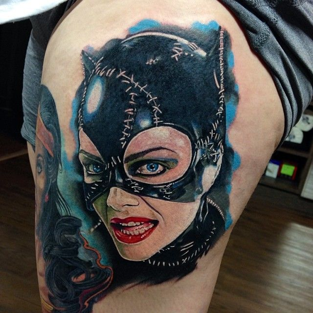 Chronic ink tattoo toronto tattoo cat woman and with for Cat lady tattoo