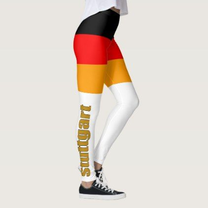 Deutsche Flagge mit Schrift Leggings  $59.95  by OpasStueble  - cyo diy customize personalize unique