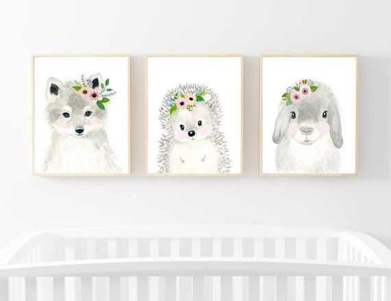 Lets make your little ones room warm and enjoyable!  Set of 3: This set includes…
