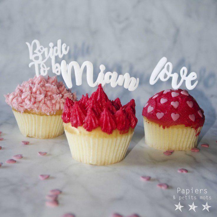 {DIY} Cake topper en plastique dingue – Papiers & Petits Mots - tuto cake topper gateau enterrement viede jeune fille - bride to be - decoration - idée