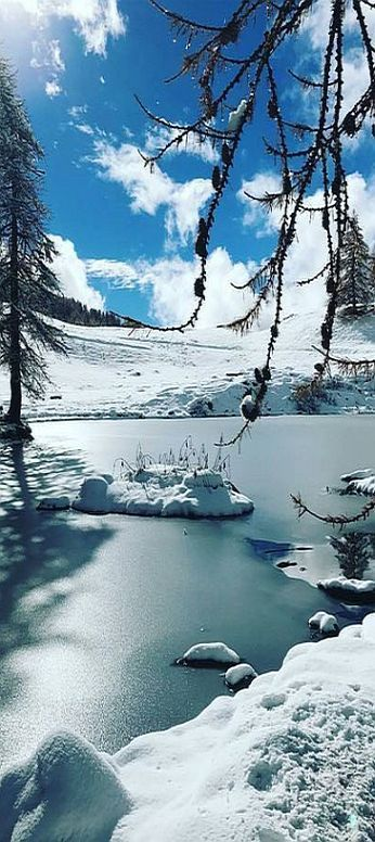 ITALY - WINTER SNOW ICE -  Lago Blu, Cervinia #by http://emmabeatrice22.tumblr.com