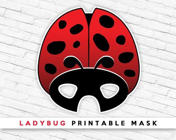 Ladybug Printable Mask Ladybird Mask Red Beetle by theRasilisk