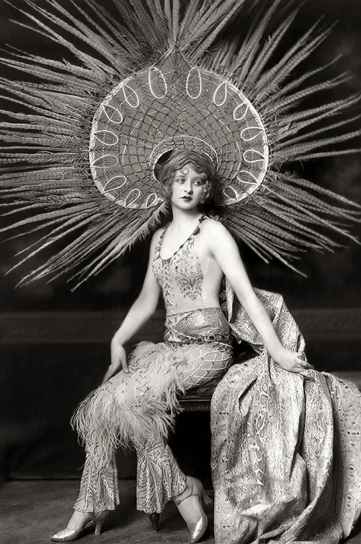 Myrna Darby. Love this outfit with the beautiful and elaborate head dress.