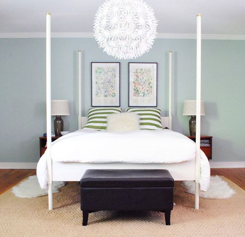 138 best paint colors images on pinterest for the home - What to hang over bed ...