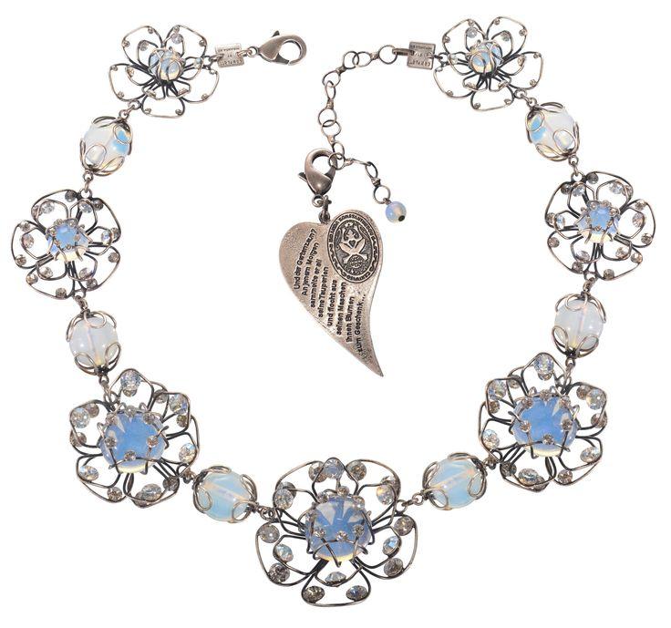Halskette Collier Verlorene Unschuld am Gartenzaun weiß