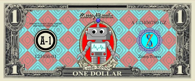 Customize your Play Money today! Use it as a family currency with your kids, coupons for your business, give it as a gag gift to your friends, or use it to play games like Monopoly or poker. Tags: robot, robots, science, robotics, toy money, game money, play money, monopoly money