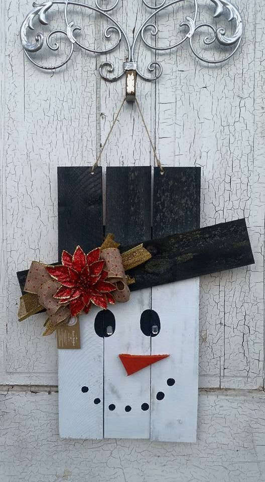 Une idée de décoration de Noël à fabriquer soi-même avec des planches de bo…