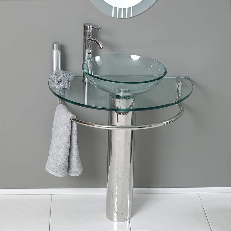 Fresca Attrazione 30 inch Glass Vanity with Frosted Mirror FVN1060