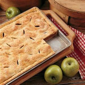 Farm Apple Pan Pie ~ I like to mix an icing glaze with powdered sugar and milk and spread on top.