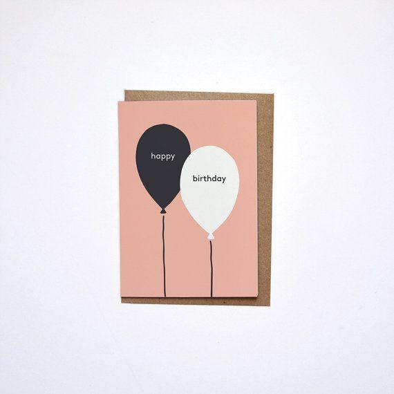 HAPPY BIRTHDAY / card w/ envelope