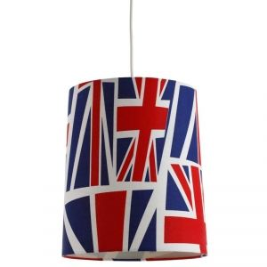 Suspension de plafond avec abat-jour drapeau britannique très mode: luminaire de chambre d'ado à la fois tendance et pas cher