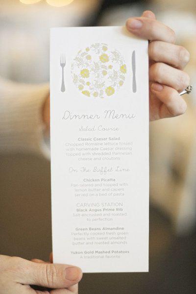 Tall wedding card